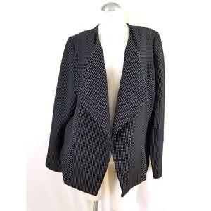 Lane Bryant Size 20 Black White Drape Neck Blazer